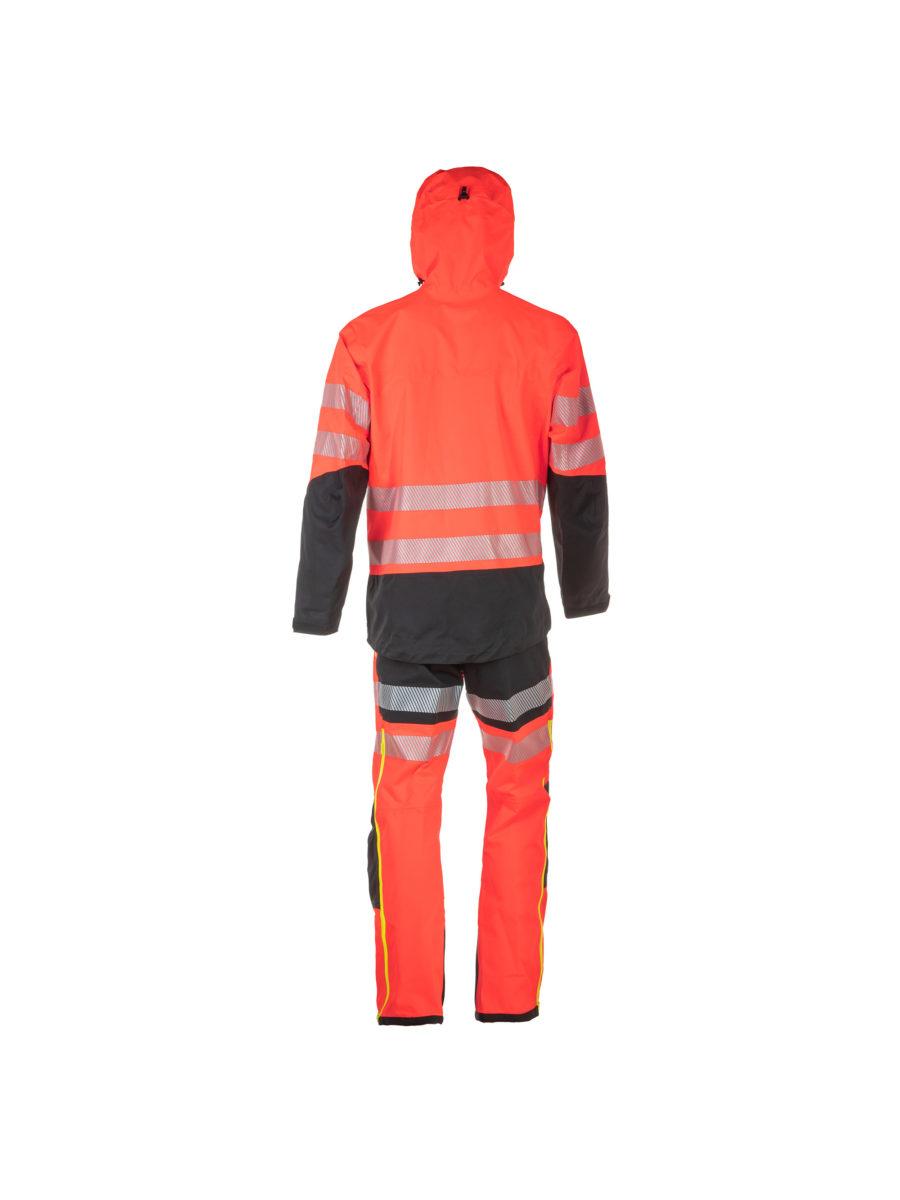 traje de agua de chaqueta y pantalón en color naranja