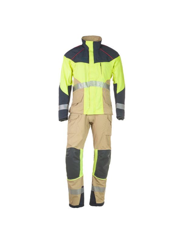 conjunto de chaqueta y pantalón rescate técnico