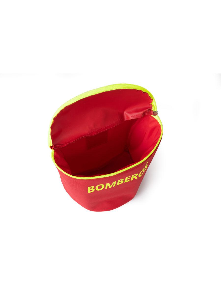 interior del bolso para máscara