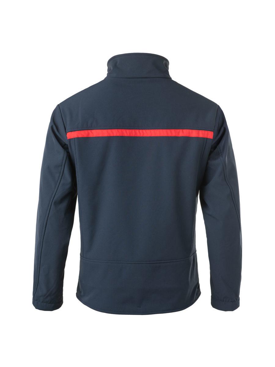chaquete-polar con banda roja